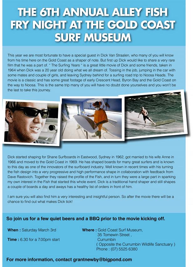 Fish Fry Night at Surf World Gold Coast Museum